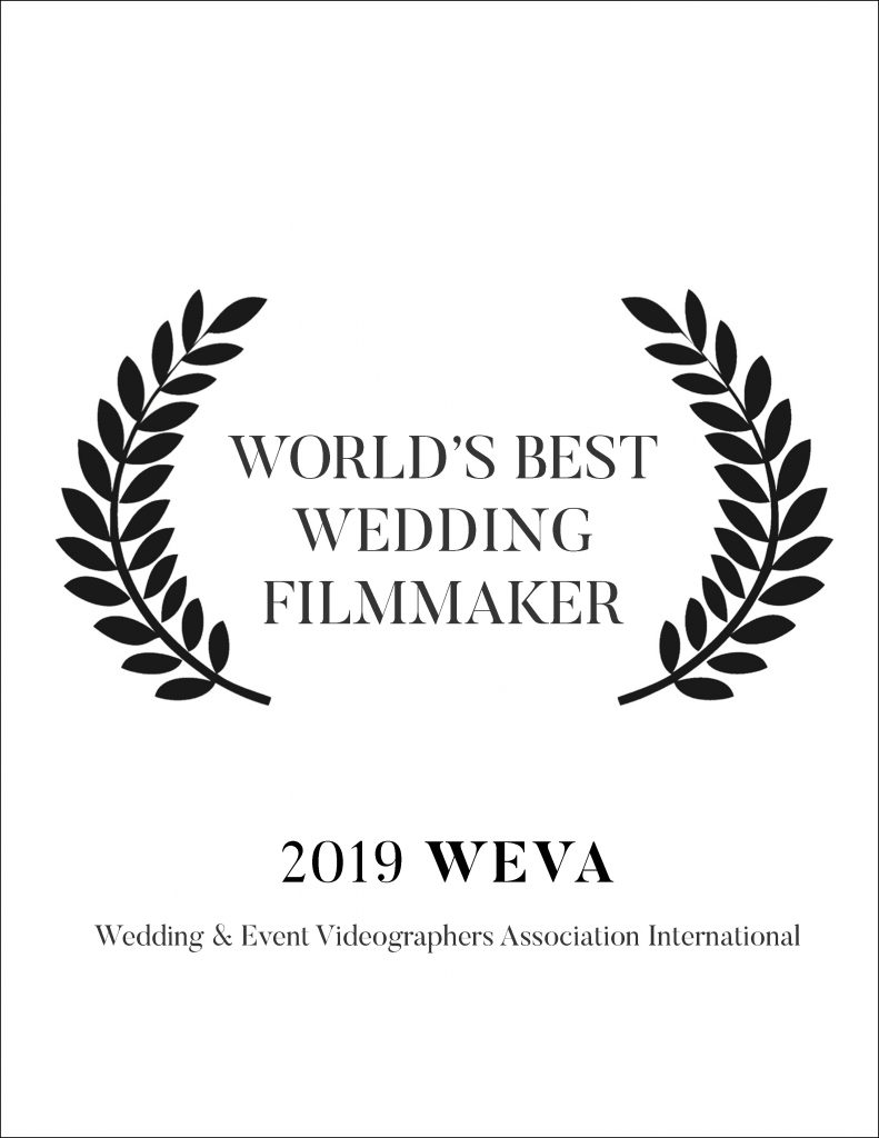 WEVA (Worldwide Event Videographers Association) has brought together the top filmmakers from around the world for years. In 2019 we won the World's Best Filmmaker.