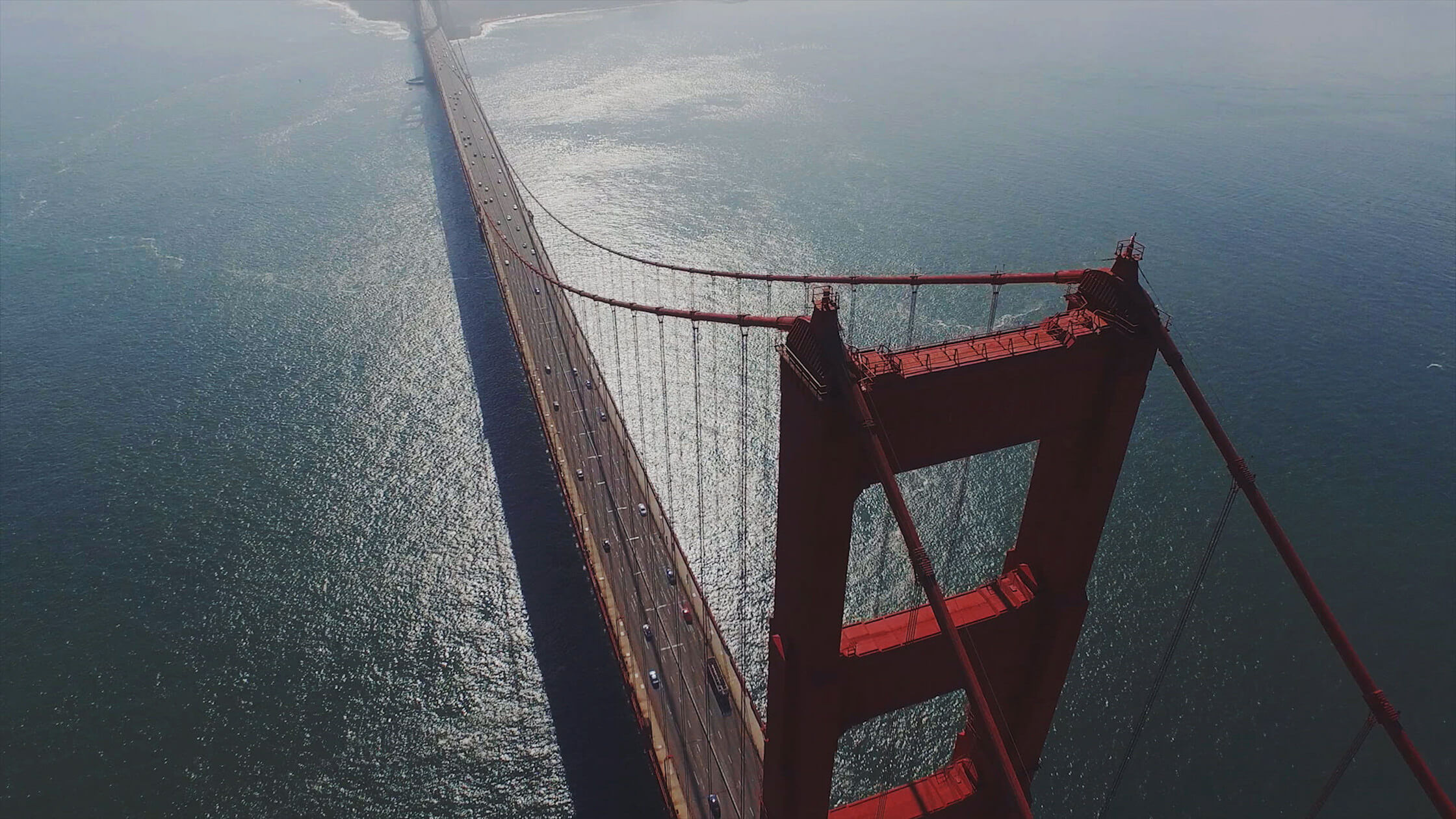 San Fransisco Golden Gate Bridge Aerial Photograph